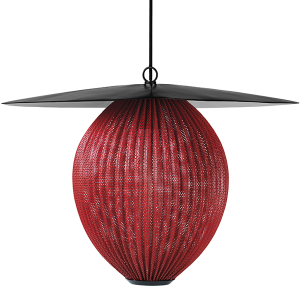 Gubi Satellite pendant, large, shy cherry