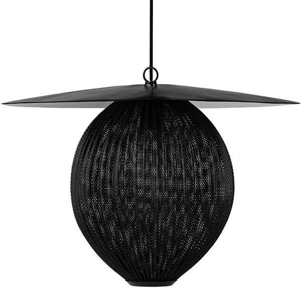 Gubi Satellite pendant, large, midnight black