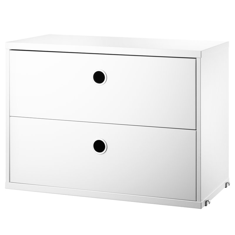 String String chest with 2 drawers, 58 x 30 cm, white