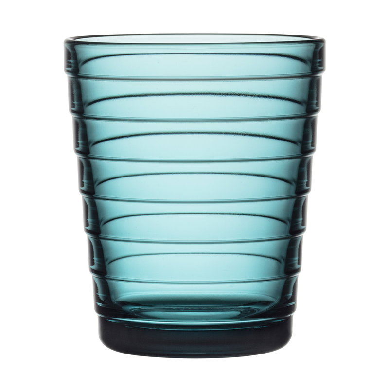 Iittala Aino Aalto juomalasi 22 cl, merensininen, 2 kpl