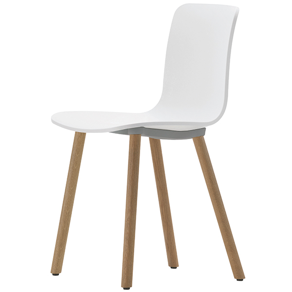 Vitra HAL Wood chair, oak - white