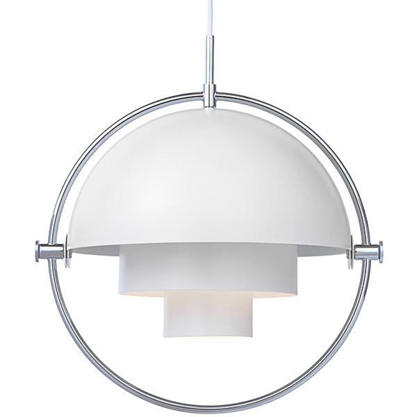 Gubi Multi-Lite pendant, chrome - white