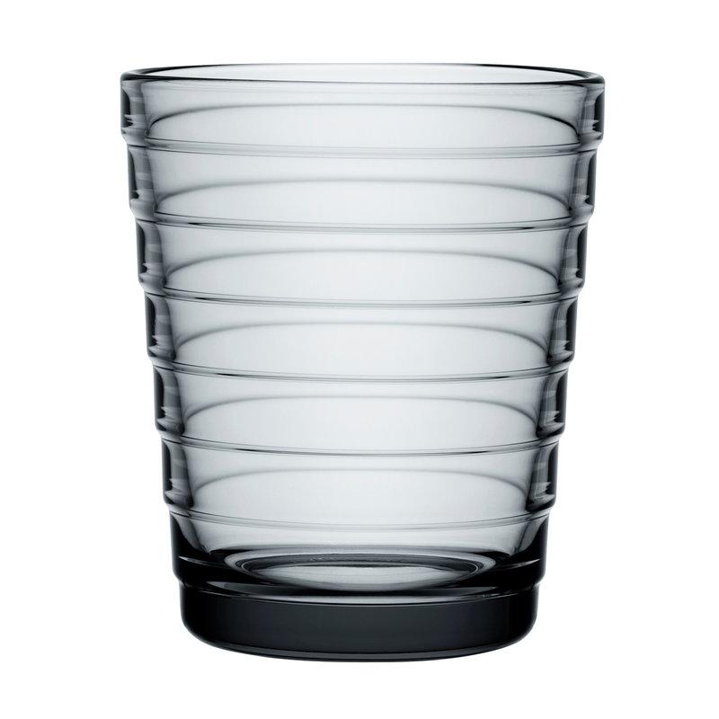 Iittala Aino Aalto tumbler 22 cl, grey, set of 2