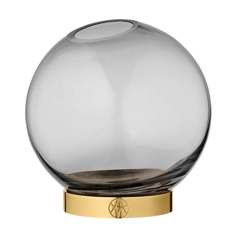 AYTM Globe vase, medium, black  - gold