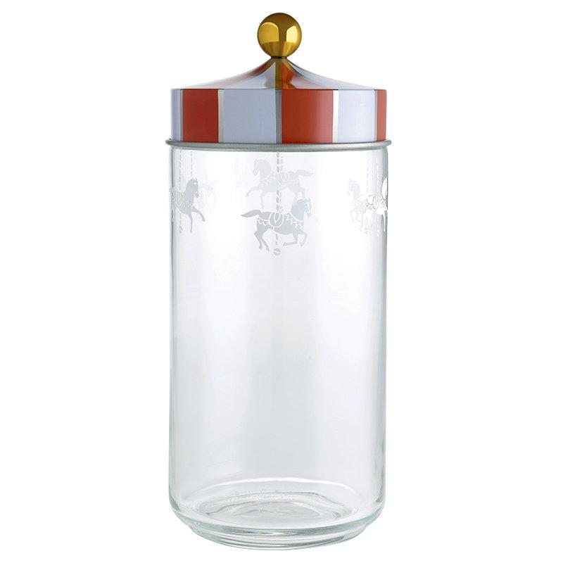 Alessi Circus glass jar, 1,5 L