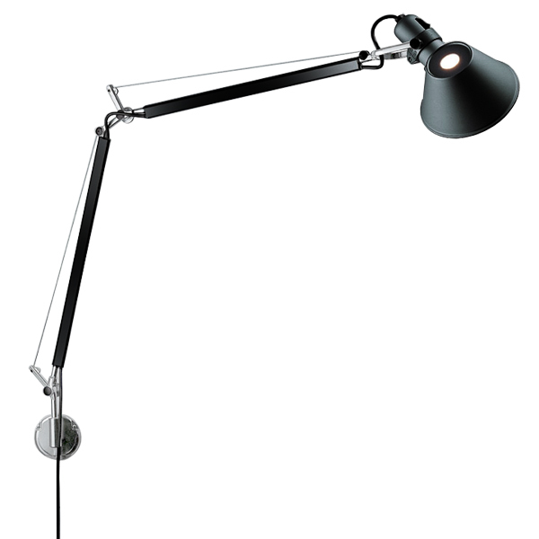 Artemide Tolomeo Mini Parete wall lamp, black