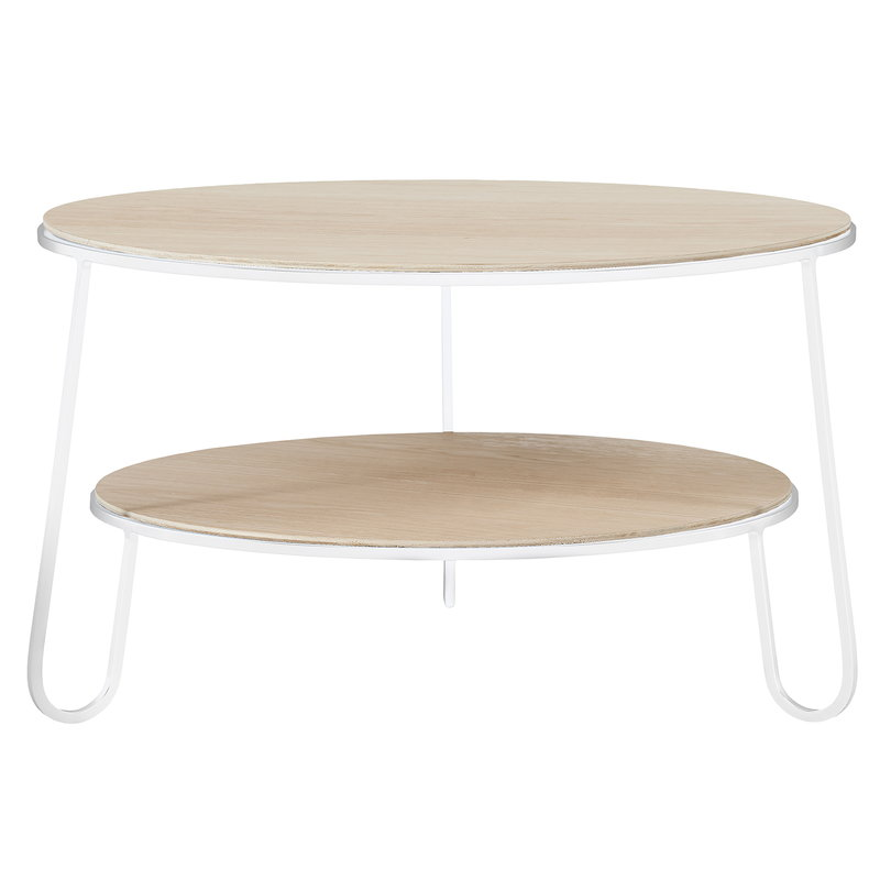 Harto Eugenie coffee table 70 cm, oak - white