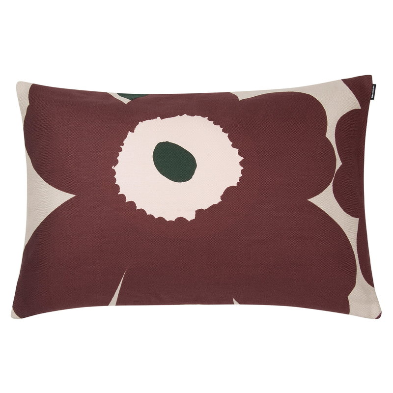 Marimekko Unikko cushion cover 40x60 cm, beige-reddish brown-peach