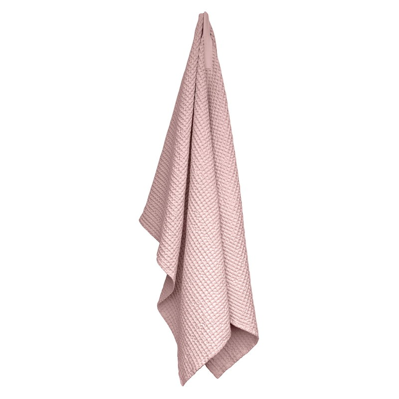 The Organic Company Big Waffle towel and blanket, pale rose