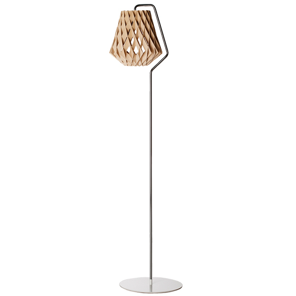 Showroom Finland Pilke 28 floor lamp, birch