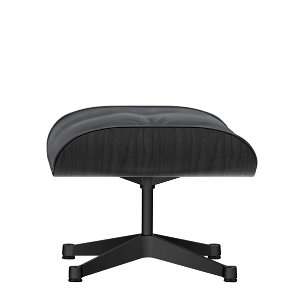 Vitra Eames Lounge Ottoman, black ash - black leather