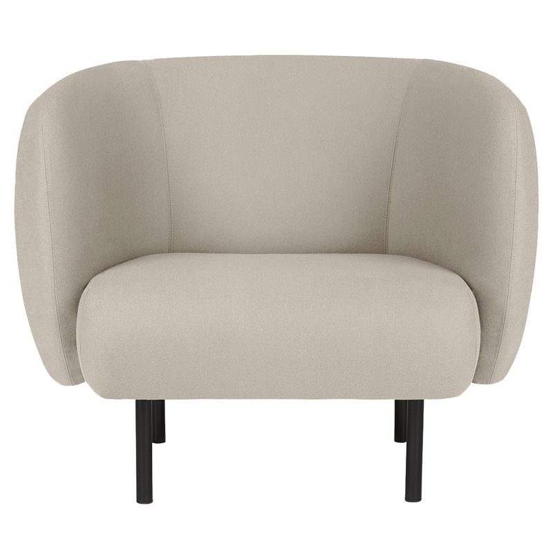 Warm Nordic Cape lounge chair, pearl grey