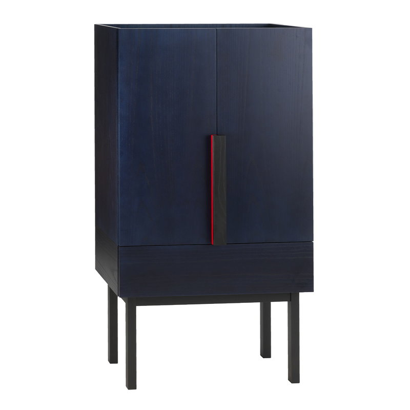 Ariake Aizome cabinet, indigo - black - red
