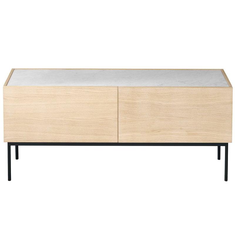 Asplund Luc senkki 160 laatikoilla, marmorikansi, vaalea tammi - harmaa