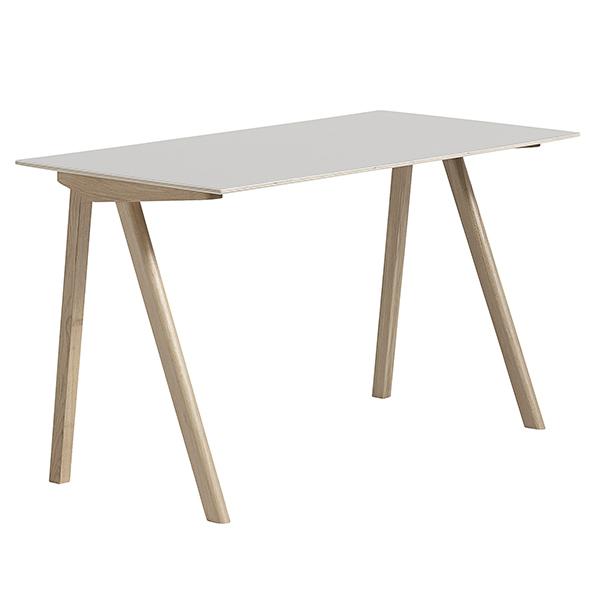Hay CPH90 desk, soaped oak - off white lino