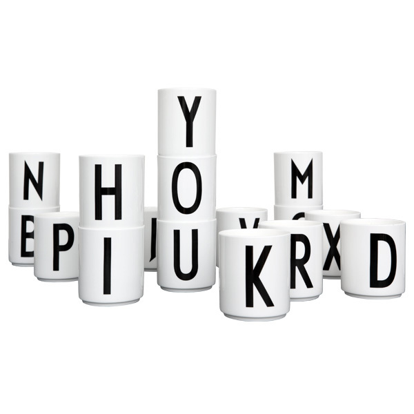 Design Letters Arne Jacobsen Cup White A Z Finnish Design Shop
