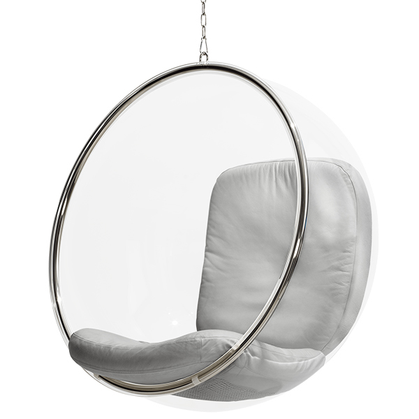 Eero Aarnio Originals Bubble Chair Silver Finnish