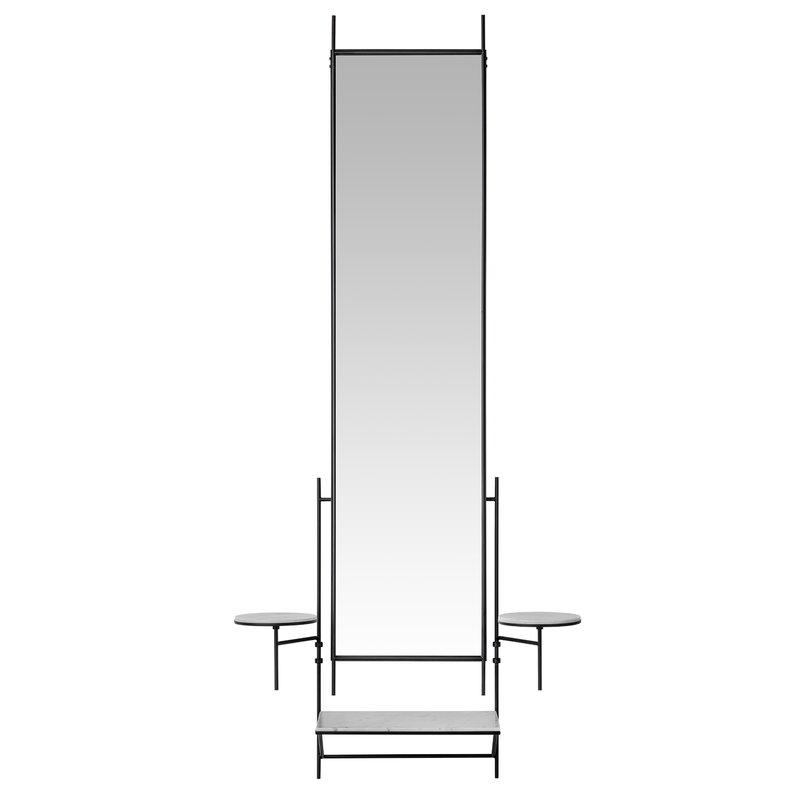 Fritz Hansen PM Wall Mirror peili, musta - valkoinen marmori