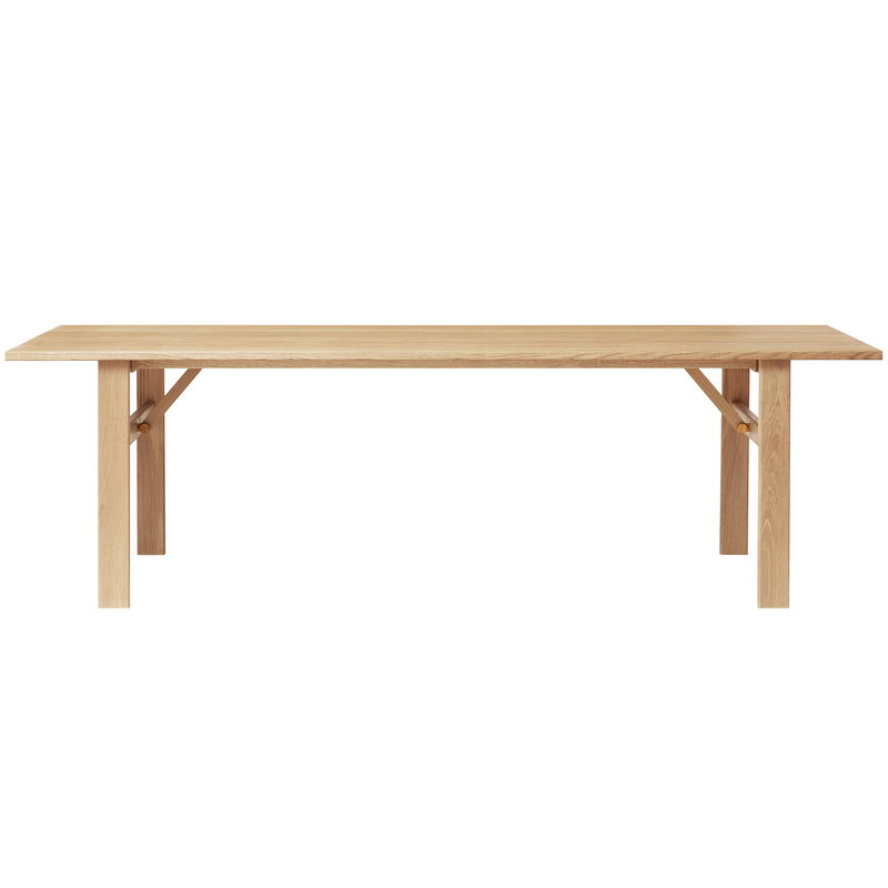 Form & Refine Damsbo Master dining table 245, white oiled oak