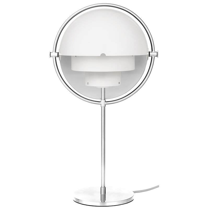 Gubi Multi-Lite table lamp, chrome - white semi matt