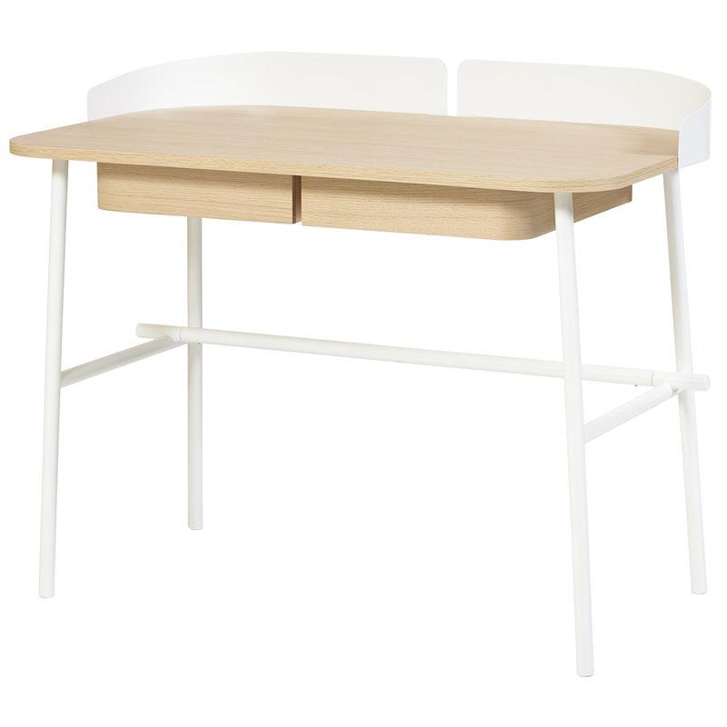 Harto Victor työpöytä, tammi - valkoinen