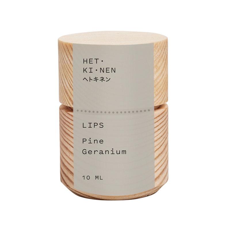 Hetkinen Lip balm, tinted, pine - geranium