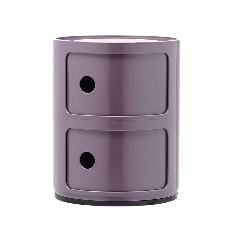Kartell Componibili storage unit, 2 modules, purple