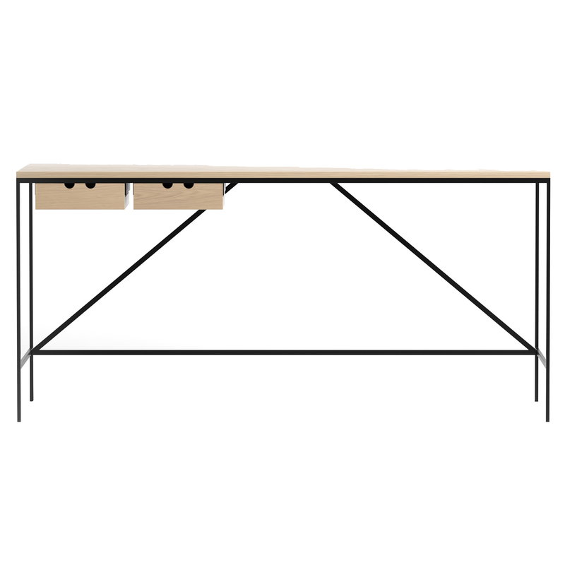 Karakter 1595 console table, 152 x 56 cm, oak - jet black