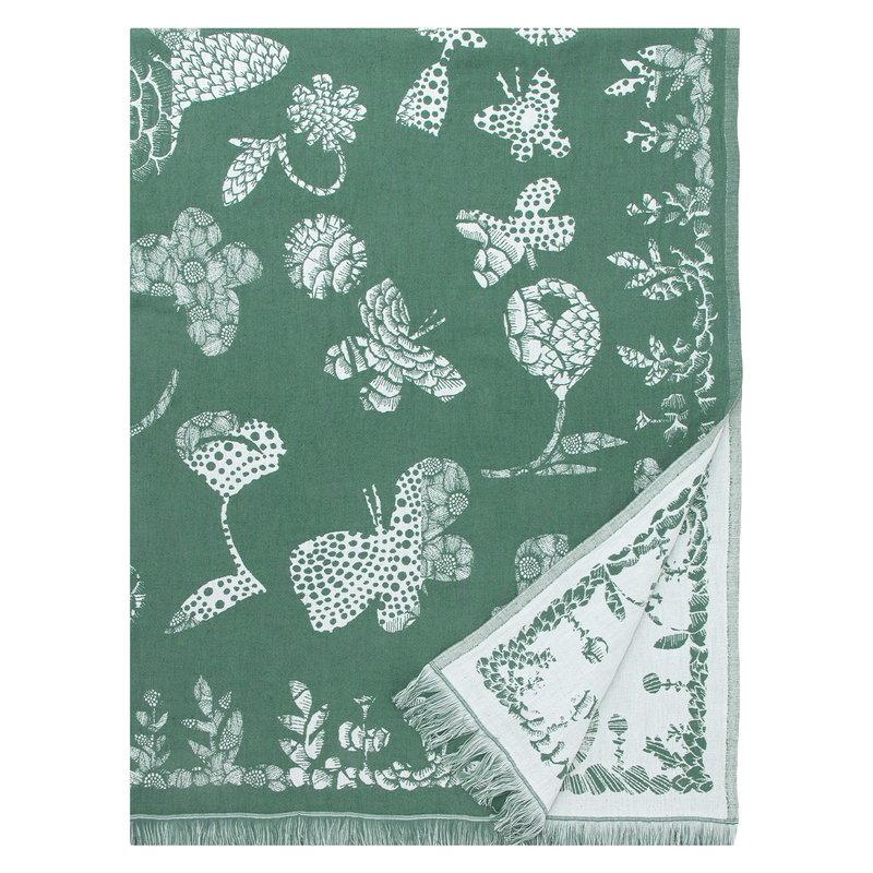 Lapuan Kankurit Aamos blanket, white - aspen green