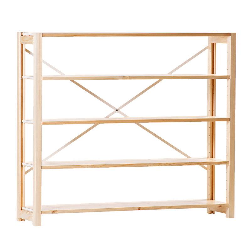 Lundia Classic open shelf, low, wide, natural
