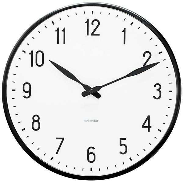 Arne Jacobsen AJ Station wall clock, 29 cm