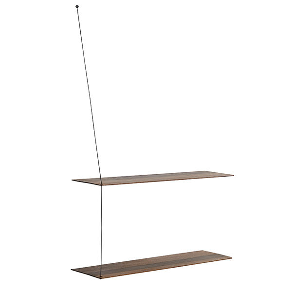 Woud Stedge 2.0 shelf 80 cm, smoked oak