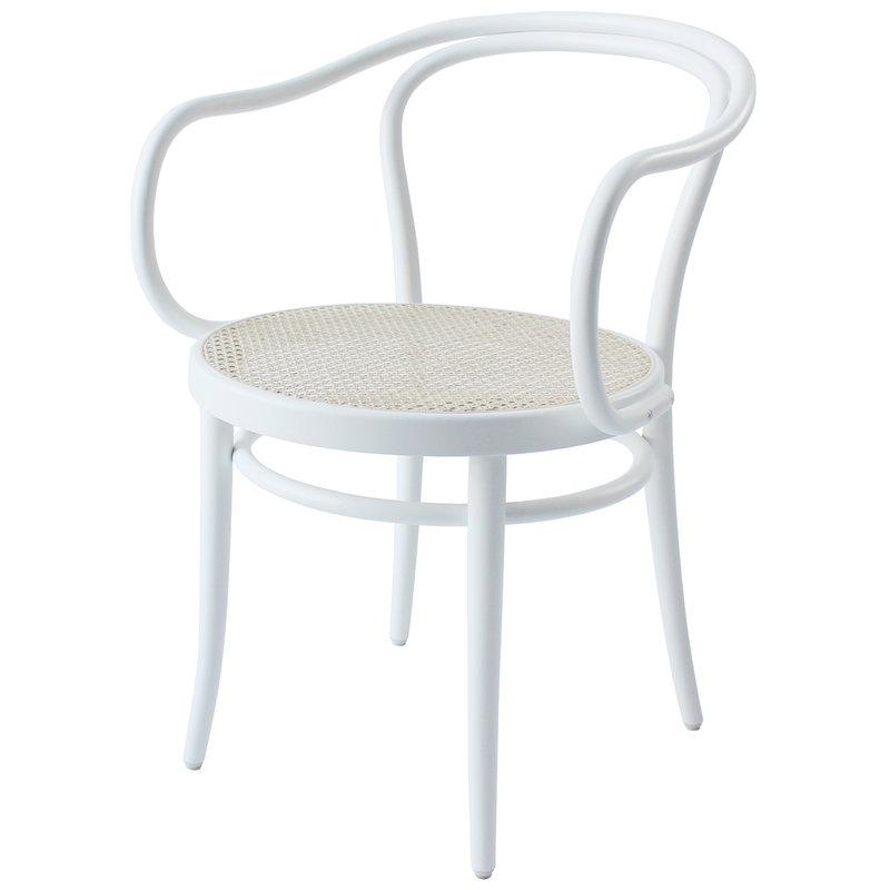 TON Armchair 30, cane - white