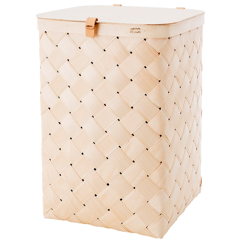 Verso Design Lastu Maxi birch basket with lid
