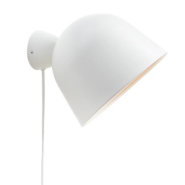 Woud Kuppi wall lamp, white