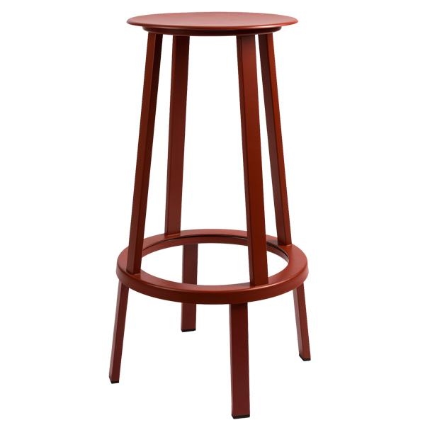 Hay Revolver bar stool, red