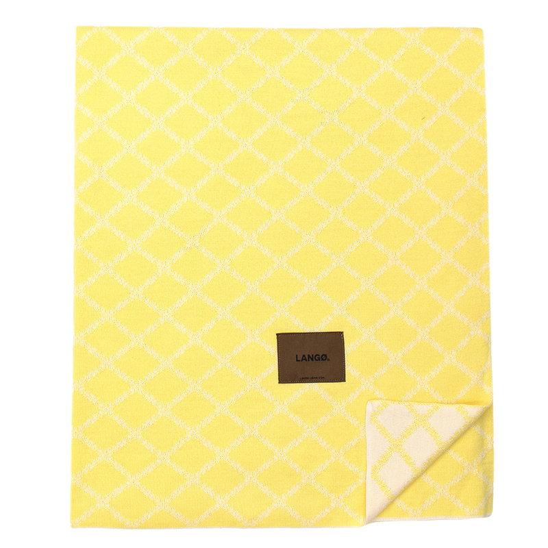 Langø Merino blanket, yellow-white
