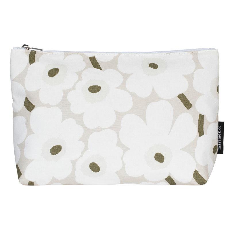 Marimekko Relle Mini Unikko cosmetic bag, beige-white-grey green