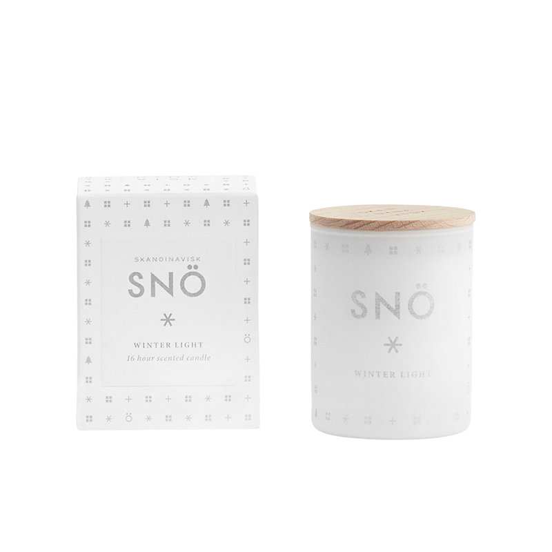 Skandinavisk Scented candle with lid, SNÖ, small