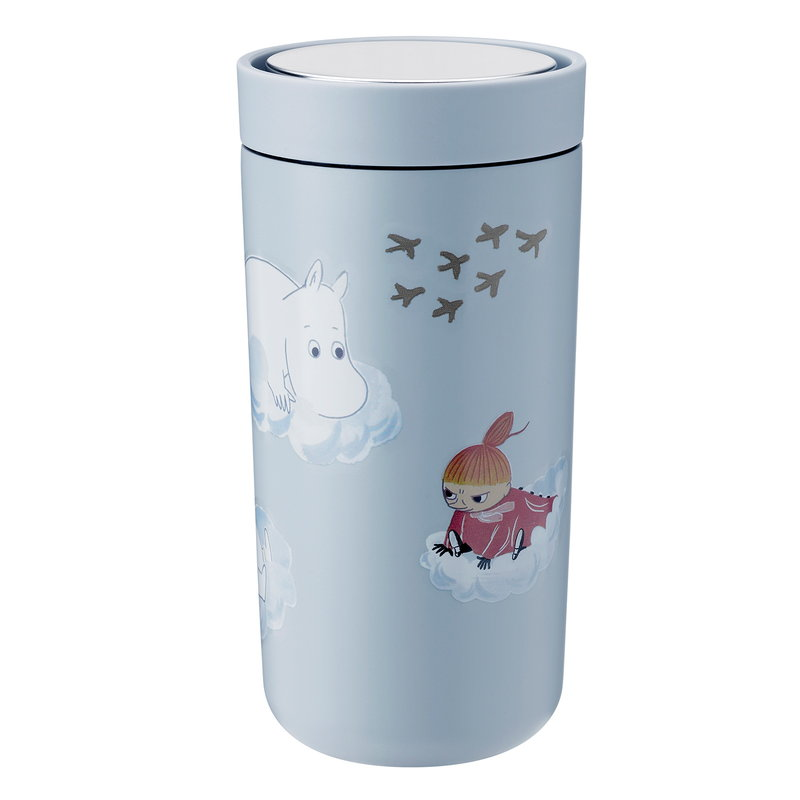 Stelton To Go Click thermo cup, 0,4 dl, cloud - Moomin