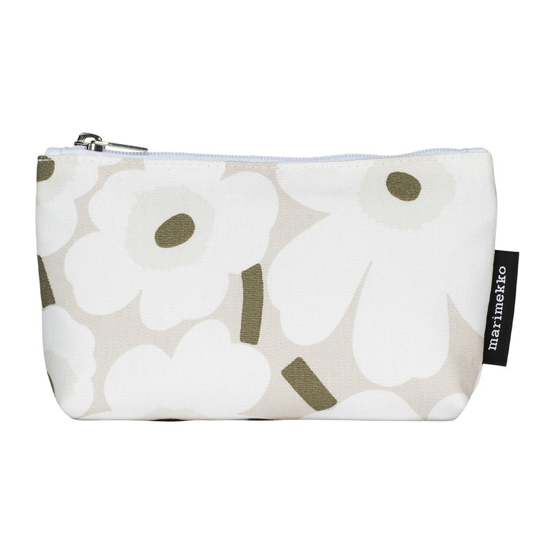 Marimekko Eelia Mini Unikko cosmetic bag, beige-white-grey green