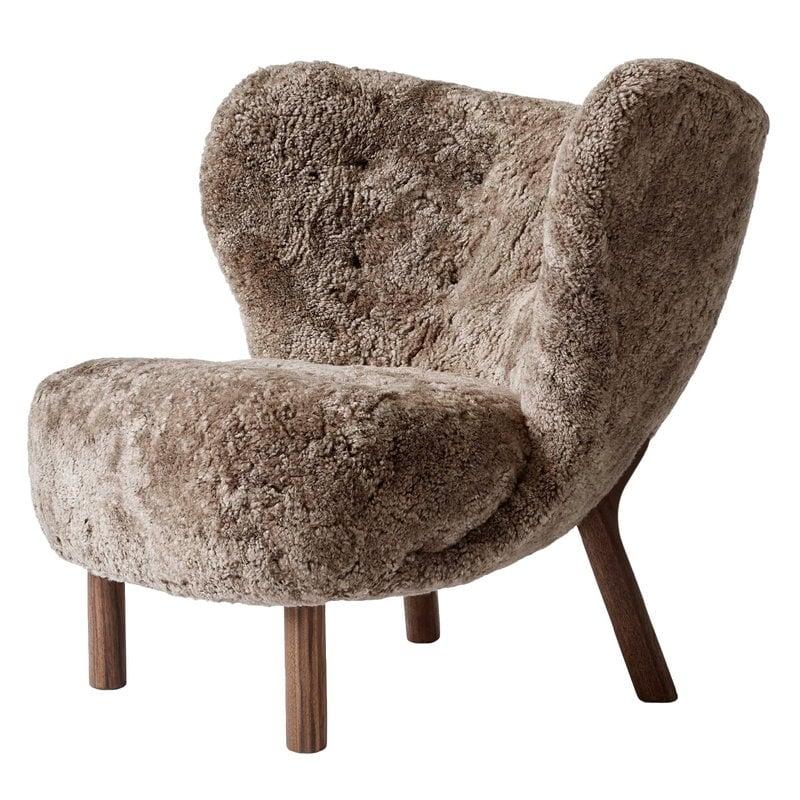 Tradition Little Petra Lounge Chair Sahara Sheepskin Walnut Finnish Design Shop
