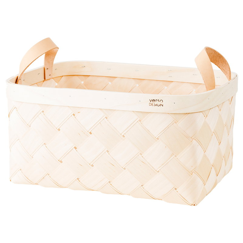 Verso Design Lastu birch basket, rectangle, L