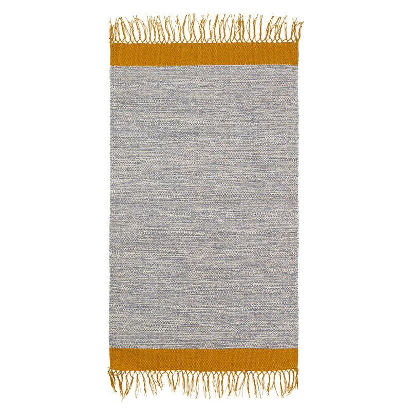 Ferm Living Melange Bathroom Rug Grey Yellow Finnish Design Shop