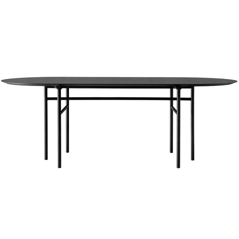Menu Snaregade pöytä ovaali 210 x 95 cm, musta tammi