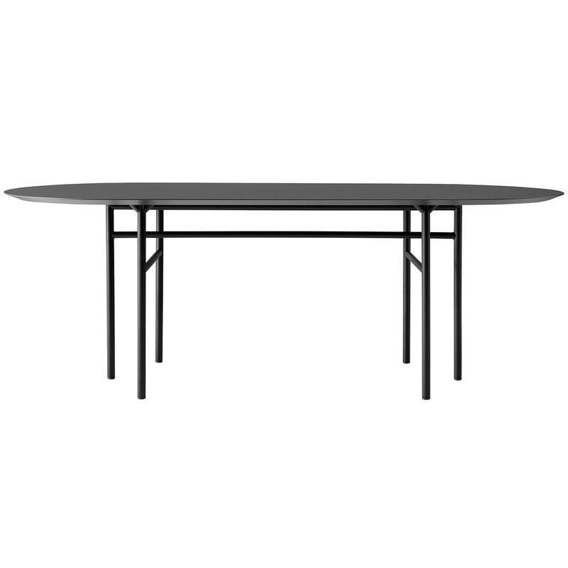 Menu Snaregade pöytä ovaali 210 x 95 cm, hiilenharmaa linoleum