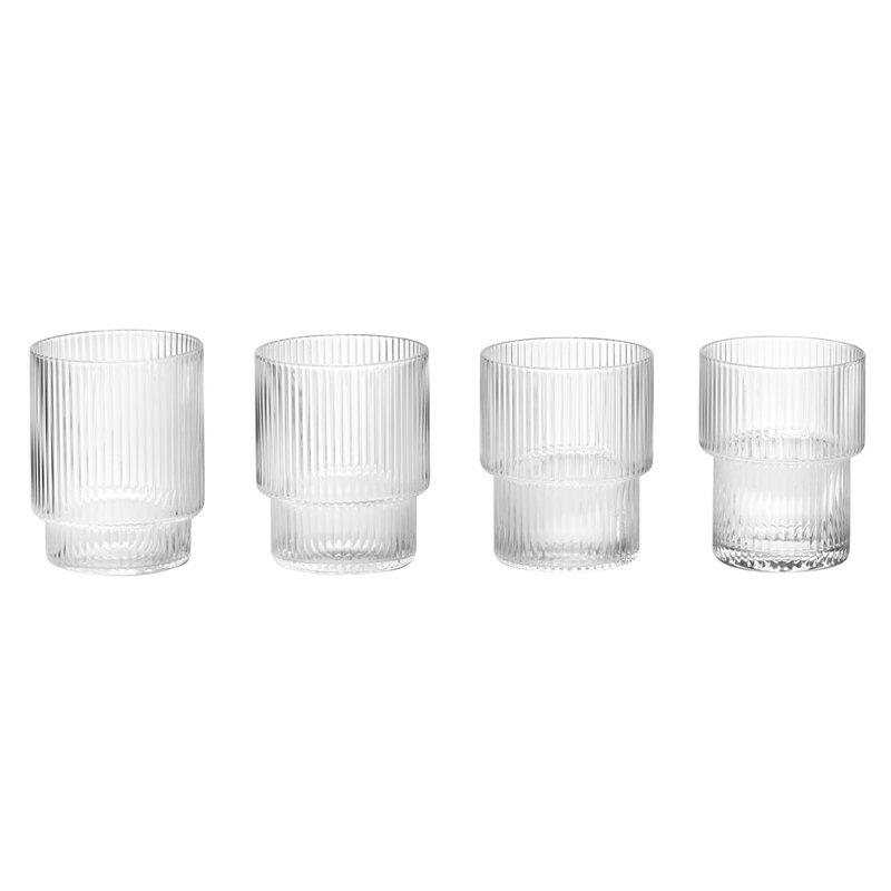 Ripple glasses, 4 pcs