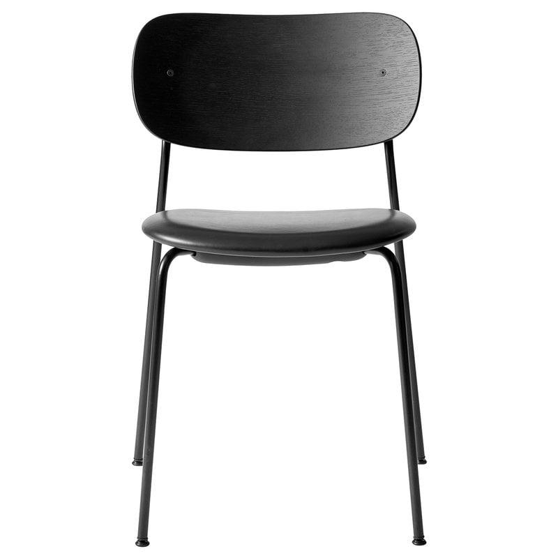 Menu Co tuoli, musta tammi - musta nahka