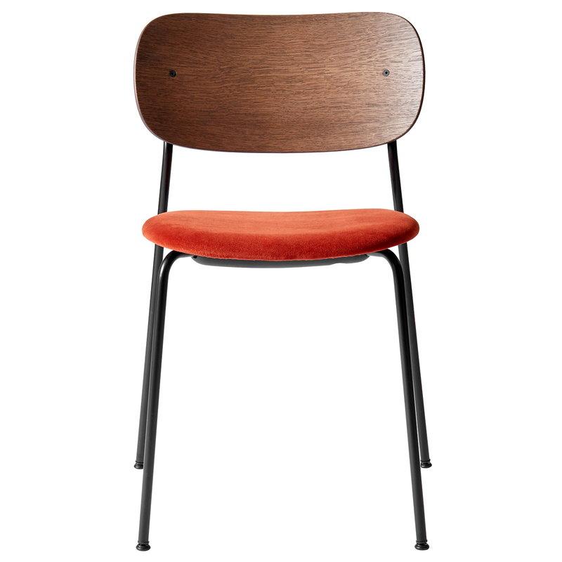 Menu Co tuoli, petsattu tammi - oranssinpunainen sametti