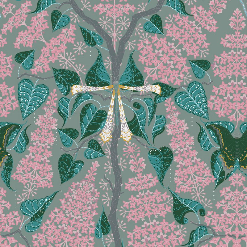 Klaus Haapaniemi Lilac Pink wallpaper, uncoated